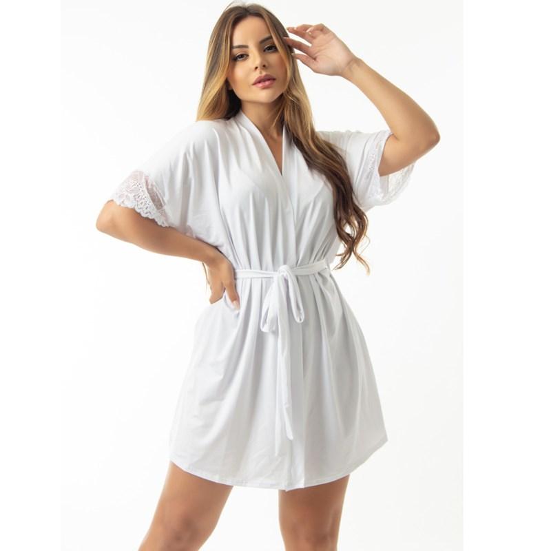 Robe Manga Curta Com Amarração | Naomi 6022