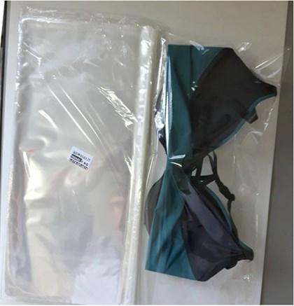 Sacolinha para Sutiã 18x40 - PP Polipropileno Transparente