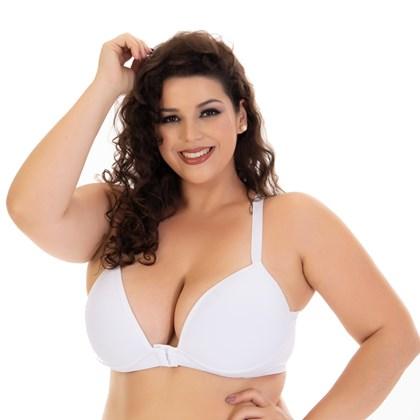 Sutia Plus Size Básico Nadador e fecho Frontal   Bojo Extra