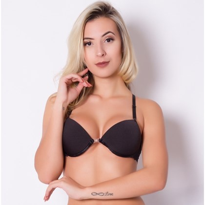 Sutiã Strappy Bra de tiras nas costas e fecho frontal, push-up| s4122