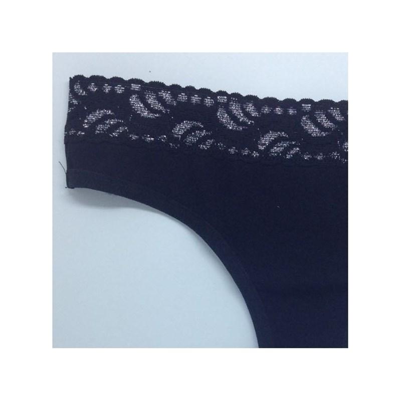 Tanga Fio Cotton (algodão) com Renda no Cós | Lia