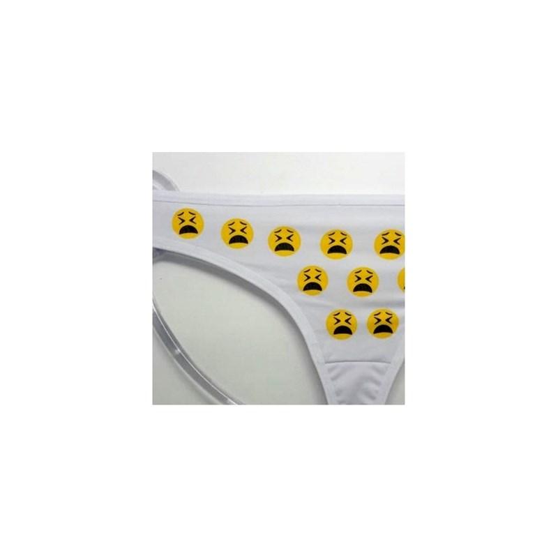 Tanga Fio Dental com Emoticons   Zap 1345